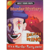 "Host Your Own Murder Mystery. Item Code # 14326. ""Death in The Ring."" It's a Murder Party Pack! Audio CD. New. Retail package. UPC: 870452002101."