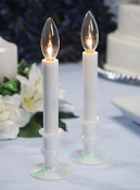 Light Up Your Wedding With Battery Operated Candle Lights. 452433. New. Hobby lobby Brand. lA41163. Low voltage bulb-Use 2.5-3.0 Volt Bulb. Uses 2 AA Batteries. (not included)