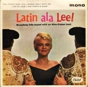 Latin Ala Lee! Peggy Lee. ZT-1290. Broadway hits styled with an Afro-Cuban beat. 4 Track Tape. IPS 7 1/2. Used. Capital Records. High Fidelity Recording.