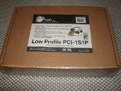 SIIG LP-P11011-S6 Low Profile PCI-1S1P. New. CyberPro 1S1P. PCI-Bus Low Profile Combo I/O Card. RoHS. 02-0443A. Retail Box. Cables and Card are included. 04-0366A. 6710010182P50. SIIG 1130. Works with Serial and Parallel Devices. V6.0. AC-000328.