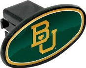 "Baylor University Trailer Hitch Cover. 32405. Plastic End Cap. Clips into space. New. Fits standard 2"" Hitch."