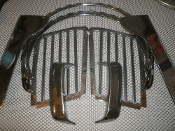 Honda Goldwing Chrome Trim Parts. Used. Metal.