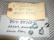"K&T VB-2 Lincoln Fitting. New. 222619, 20024. 8517-85742-5, TR 8517-85742-5. Four Per Package. 1/2"" OD, 3/8"" ID."