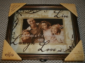 NewView K525-37 Glass Reflection Photo Frame. 606683525375. New. Live, Laugh, Love Photo Frame. 024 20 20. Glass Reflection Photo Frame. back hook wall hanging tabletop display.