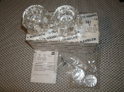Delta H61 Two Large Clear Handles. Kit. New. 034449361644. Two RP18373, Two RP5885.