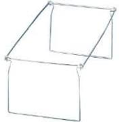 "OIC Hanging Folder Frames. HF-LT. 30042491986204. New. Six Hangers Per Box. Letter Size. 12 End Units and 12 side Rails. 27"" Long. Brand: Officemate International Corporation."