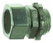 "Thomas & Betts TC212SC. New. 25 Per Box. TC212-SC. 3/4"" Compression Connector, Die Cast Zinc, Concrete Tight. For use with EMT Conduit."