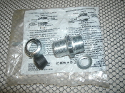 "Cooper Crouse-Hinds CGB293 Cable Fitting 3/4"" Male NPT Steel With Nut. New. OEM plastic bag. CG Series Fittings."