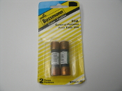 Cooper Bussmann BP/NON-20 Fuses. 2 Fuses. New. 20 Amps. 20A. 250V. Retail Package. 051712111027. NON-20. W22. 051712101578.