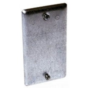 Raco 050169008607 Utility Box Cover. New. Blank Single Gang Wallplate Cover. 0860. 860. Metal Plate with Screws. Hubbell Raco Brand.