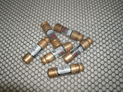 Fusetron FRN-R 5 AMP. Lot of 6 Fuses. Used. P23. 250V. Cooper Bussmann. 051712507226. HRCI-R, Type D.