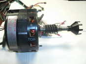 A.O. Smith F42D05B08 Electric Motor with Gear Shaft. Refurbished. 33218S. 1/3 HP.RPM 1500. HZ 60. V 120. HRS. INT.