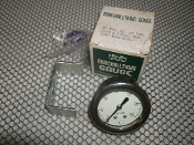 "Marshalltown 2"" Fig. 22-30 Vacuum Gauge. New. 0 to 30. Assembly 115667-A. Type B Chrome Ring. 1/8"" Back Connector. Marshalltown Gauge."