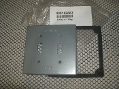 Red Dot 409105582 Metal Plate. New. L.E. Mason Co. Grey. Two Pole Light Switch Cover.