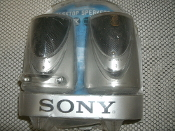 Sony SRS-A27 Active Speakers System. New. 027242574137. SRSA27. Built in Power Ampl;iier. For CD Walkman. MD Walkman. Retail Packaging is in Poor Condition.