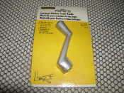 "Stanley 37-1744 Casement Window Crank Handle. New. Silver. CD1744. (AL). Fits 3/8"" Spline. 033923089340. 371744."