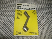 "Stanley 37-1745 Casement Window Crank Handle. New. 033923089357. CD1745. Fits 3/8"" Spline. Zinc Cast-Bronze Finish. (DD)."