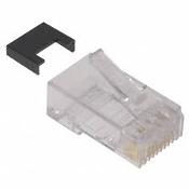 Tyco 5-569278-4 CAT 5 Modular Plug Assembly. New. 25 CAT5 Connectors and Modulars. 8 Position. MPLUG, 8P, RND, SLD, CAT5, 242, 8AWG.