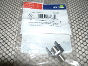 Leviton CAT 41084-FBF QuickPort F-Type Adapter. 1B13L0. 07847781660. SAN 241. New. Nickel F-Connector. Brown.