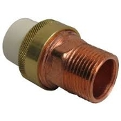 "Nibco Union CPVC Slip X Copper MIPT. 3/4"". New. 4733-4 CPVC-CTS union is made of FlowGuard Gold® CPVC and is ideally suited for hot and cold water pressure"
