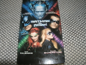 Batman and Robin VHS Tape. 085391650539. Used. PG-13. George Clooney, Arnold Schwarzenegger, Chris O'Conner, Uma Thurman and Alicia Silverstone. 1997.