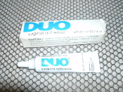 Duo Surgical Grade Eyelash Adhesive. 87-5740. New. 094800320550. 1/2 OZ. The retail box is in below par condition. Lot 6M14A.