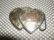 Two Hearts Female Belt Buckle. Used.