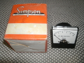 Simpson Gauge. 1227-MA1. 0 to 10 DC Milliamperes. New.