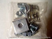 "Cooper Trapeze Hardware Kit. 9ZN-5500. New. 9ZN-5500-1/2. B-Line by Eaton. 09217A. B202. 78101130851. 1 pr. 9ZN-1205, 2: HHC Screws 1/2 X 7/8 ZN, 2: N525 WO ZN, 4: B202 ZN 1/2"" Sq Washers. 4: HN 1/2 ZN."