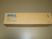 Dell T6412 Cyan Toner Cartridge. OEM. 3000CN, 3100CN. Laser Printer. CT200482, CT200572. 884116000549.