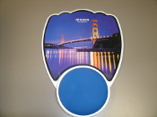 Senger Mousepad 017. Golden Gate Bridge. 692119201289. 017. Senger wrist ease magnet massage mouse pad. The best ergonomic product of the 21st Century Reduce tired and painful wrists, arms and shoulders.