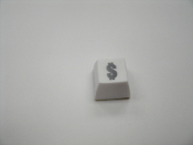 "Fakeys ""$"" Key. New. Place on your monitor or keyboard. White Self Stick Key. Novelty Inc. 794080260378."