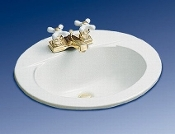 "Eljer Murray Oval Lavatory Bath Sink. 051-0128-82. Self Rimming Sink. 051012882. Natural. 8"" Centers. 20"" X 17""."