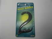 "Cole 03-6075-002L House #2. New. 4"". (101mm) Black. Solid Aluminum Nail-On. Nails are included. 045899375020. Axxess Technologies."
