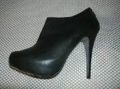 My Delicious Shoes Heart in D Women's Bank Bootie Heel With Zipper. High Heel Pumps with Stiletto Heel. Black Bootie Heel. New. 9. Fuax Leather. 842692059696.