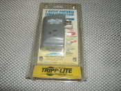 2 outlet, fax, modem, 510 joules. Tripp Lite PS5503M 2 outlet portable surge suppressor.