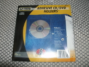 Fellowes Adhesive CD DVD holders, 5 pack. UPC: 077511983153. Model: 98315.