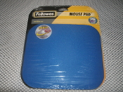 Fellowes, mouse pad, new. Fellowes 58021 Blue Mouse Pad. UPC: 077511580215.
