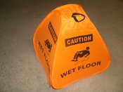 Pop-up WET FLOOR Safety Cone Signs