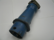 Hubbell Plug 330P6W Phase 3, 30 Amp, 30A, 250VAC, 250 Volt Plug. 3 Pole, Used. Missing Collar.