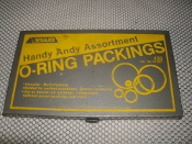 Sexauer 072421 O-Rings With Case. Handy Andy Assortment O-Ring Packings. Metal Box Only.