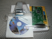 Best Connectivity PCI to Parallel 2 Port Controller Card. SD-PCI-2P. New in retail box. UPC: 893049000939. Easy Plug and Play. Autmatically selects IRQ and I/O address. 2 cards with instruction manual with CD.