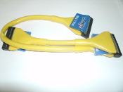"CableMaxx 24"" Yellow Floppy Cable. New. Premium Rounded Yellow Cable. Dual Devices. 2 Devices. PC Toys. PCToys. UPC: 840556017301."