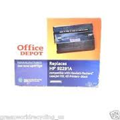 Office Depot HP 92291A Toner Cartridge for LJ IIISi, 4Si Printers. 406-151. New. HP91, HP-91, Black Laser Toner Cartridge. OD91SA. 087486096659. #4070304-A