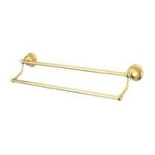 "Gatco 4514 Tiara 24"" Double Towel Bar. New. # 4514. Solid Forged Brass. 011296451407."