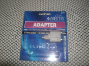 "Manhattan PS/2 ""Y"" Notebook Adapter. Model: 361750. MiniDIN6 Male to 2 MiniDIN6 Female. PC: 766623361750."