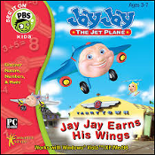 Jay Jay The Jet Plane. Jay Jay Earns His Wings. UPC: 671196022536. Discover Nature Letters and Words. Ages 3-7. As seen on PBS Kids. Works with Windows Vista, XP, ME and 98. 6 activities. Nature videos, fun Jay Jay songs, and printable activities.