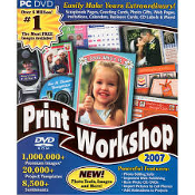 ValuSoft Print Workshop 2008. DVD ROM PC DVD. Print Workshop's 2008 professional looking projects! UPC: 755142712822. 1,000,000+ Premium Images. 20,000+ Project Templetes, 8500+ Sentiments, 440 Fonts.
