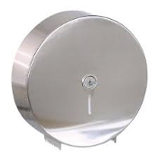 "GP 58493 Stainless Steel Bathroom Tissue Dispenser with key. New. This durable, 9"" jumbo junior bath tissue dispenser holds one roll up to 9"" in diameter, 073310584935"