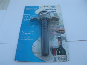Wine Air-Vac 26001 Vacuum Wine Cork. New. Pumps Air Out-Seals Flavor In! 032368260017. Fits Most Wine Bottles.